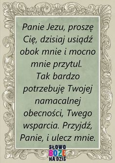 Zdjęcie użytkownika Słowo Boże Na Dziś. Positive Thoughts, Positive Quotes, Polish Language, Good Sentences, Prayer Board, Blessed Mother, Spiritual Life, Powerful Words, God Is Good