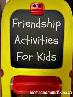 Fun ways to teach your children how to develop new friendships. #BackToSchool #Friendship #KidsActivities