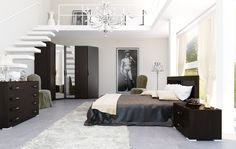 mezzanine-bedroom-design-ideas-with-black-and-white-color-interior