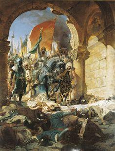 Benjamin Constant, Entrée du sultan Mehmet II à Constantinople le 29 mai 1453, 1876, Huile sur toile, 697 x 537 cm, Toulouse, Musée des Augustins