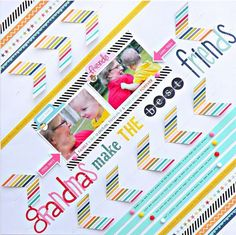 Bella Blvd Family Forever Layout. Grandmas Make the Best Friends Layout by DT member Steph Buice