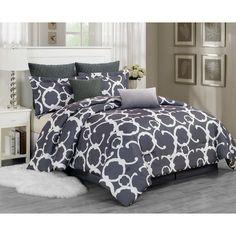 7-Piece Faye Comforter Set in Grey | Joss & Main