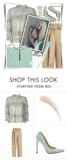 """pastel green..."" by gingerbrand ❤ liked on Polyvore featuring Étoile Isabel Marant, Kevyn Aucoin, MASSCOB, Stuart Weitzman, Ted Baker, contest and GREEN"