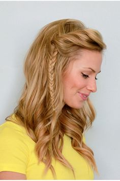 Side Twist Fishtail Braid. This is my new fav way to do my hair! omg! so glad i saw this<3