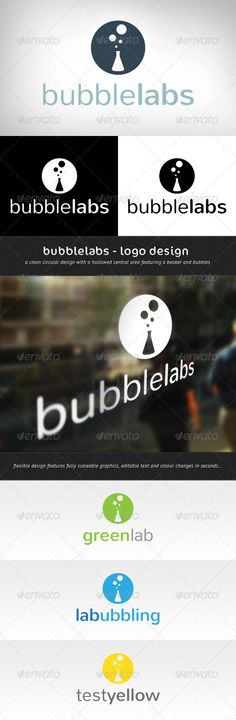 Bubble Labs  - Logo Design Template Vector #logotype Download it here: http://graphicriver.net/item/bubble-labs-logo-design/576047?s_rank=1156?ref=nexion