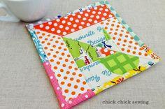 chick chick sewing: Scrappy Coaster/Pot Mat Making ♪ハギレでコースター・ポットマットづくり♪