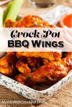 Try these easy and amazing Crock Pot BBQ Chicken Wings #recipe