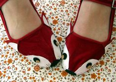 Animal Mary Janes  Upcycle your plain maryjane shoes into a lovely animal shoes
