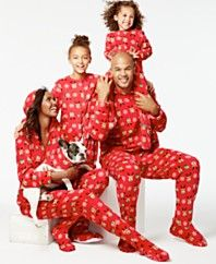 Family Pajamas Reindeer Hooded and Footed Pajamas, Only at Macy's