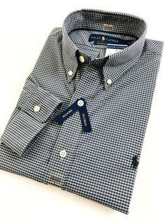 b90ddcc1e BNWT Ralph Lauren Men s Shirt Grey  White Checks Performance Poplin  Standard Fit