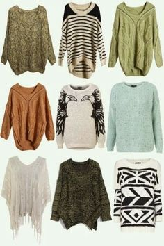 Some adorable collections of winter warm sweaters