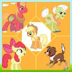 Applejack's family by Generosity peace & wag
