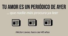 Héctor Lavoe y los amores de ediciones que ya nadie lee. Coding, Salsa, Quotes, Amor, Finding Nemo, Pretty Quotes, Musica, Lyrics, Quotations