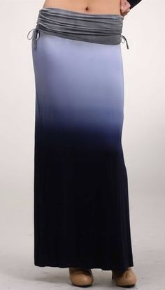 want to have one of these.........Ombre Watercolor Maxi Skirt ♥