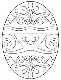 Easter Coloring Page: Stained Glass Egg / Michelle Collins