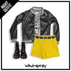 #AW17 #LiveToRock Campera Bomber Reversible + Short Palero Yellow + Cinto Texano + Borcegos Martens