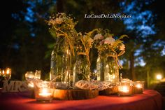 Detalle decoración mesa. #weddingplanner #LaCasaDeLaNovia.es #weddingplannermadrid #weddingplannerguadalajara #ideasboda #bodarustica #bodasverano #Elmolinodelmanto #bodaschinchon