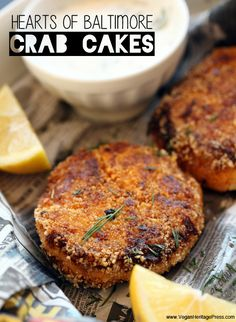 Hearts of Baltimore Crab Cakes Vegan!  They are made with Heart of Palm!! Yummmmmmmm!! They are INCREDIBLE!