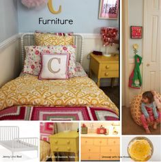 Cheerful Toddler Girl's Room