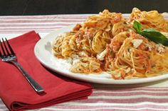 Kitchen Boss Recipe~  Cappellini With Rose Sauce and Crab