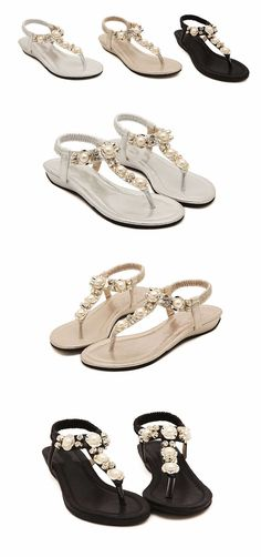 53be85f2e35dab EUR Size US Size Heel to Toe(cm) 35 5 22.5 36 6 23 37 6.5 23.5 38 7.5 24 39  8.5 24.5 40 9 25 41. AWSbuy · Footwears · Flat Summer Sandals for Women ...