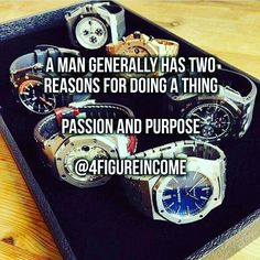 A man generally has two reasons for doing a thing. Passion and purpose  Like If You Agree  #4figureincome #business #sign #variation #creativity #market #outdoors #stock #display #time #illustration #old #discovery
