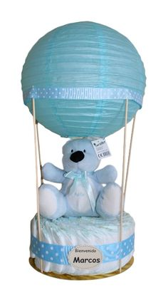 Regalo Baby Shower, Baby Shower Crafts, Baby Shower Themes, Baby Shower Decorations, Baby Boy Shower, Diaper Cake Boy, Nappy Cakes, Stork Baby Showers, Diaper Bouquet
