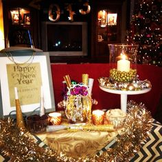 New Year's Party Table #newyears #party