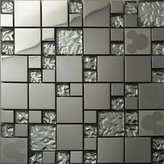 Cheap mirror tile, Buy Quality mirror tile backsplash directly from China mirror Suppliers: Silver glass kitchen backsplash tile stainless steel glass mosaic tiles random mickey mouse pattern bathroom mirror walls tile Cheap Kitchen Backsplash, Stainless Backsplash, Beadboard Backsplash, Mosaic Backsplash, Glass Mosaic Tiles, Kitchen Mosaic, Travertine Backsplash, Herringbone Backsplash, Mirror Wall Tiles