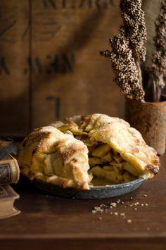 Shingled-Crust Brandy Apple Pie