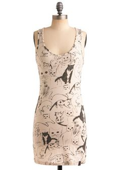@Cindy Elliott! What if we had dresses like this? We would be total cat ladies...
