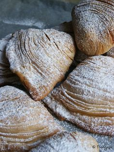 Sfogliatelle Ricce - a little labor intensive, but so worth every step!  These are to die for!!!!