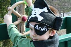 simple fleece pirate costume