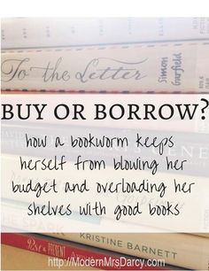 Love to read? Here's how to avoid blowing your budget and overloading your shelves with all the good books out there.