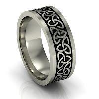 Unisex trinity knot ring, The Effective Pictur Irish Wedding Rings, Celtic Wedding Bands, Wedding Ring Styles, Silver Wedding Bands, Wedding Men, Silver Ring, Hunting Wedding, Wedding Tuxedos, Wedding Ideas