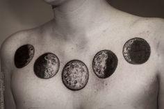 Moon Phases stippled tattoo - Alex Tabuns