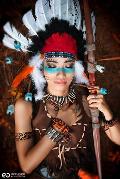 Captivating Make India, Red Indian Costume, Indian Dress Up, American