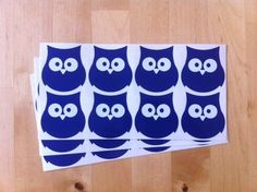 24 OWL STICKERS vinyl ANY COLOUR,car,LAPTOP,wall,TILE,wheelie bin,BIRD,decal  | eBay
