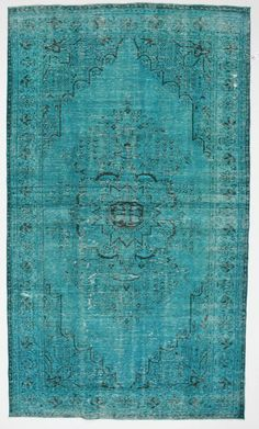Use the 20% off coupon code BAZAARBAYARPINTEREST to buy this Turquoise Large Vintage Turkish Rug by bazaarbayar on Etsy