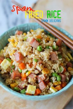 Spam Fried Rice - A quick and easy dish that can be made with any meat or veggies that you have on hand!