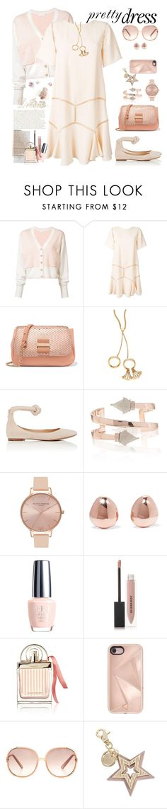 """So Lovely: Dreamy Dress"" by ellie366 ❤ liked on Polyvore featuring Chloé, See by Chloé, Olivia Burton, Monica Vinader, Burberry, Rebecca Minkoff, cutout, cardigans, chloe and dreamydresses"