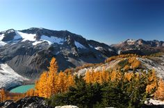 Lyman Lake in the Glacier Peak Wilderness, Washington, USA. One of the many amazing wilderness areas along the Pacific Crest Trail.