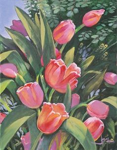 "Joni Eareckson Tada's limited edition print ""Tulips."" Signed and numbered."