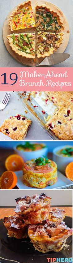 Get ahead of the game with these delicious make-ahead brunch recipes with everything from sweet French Toast to savory egg dishes to coffee cakes to quiches. Perfect for Easter or any brunch that you want to prepare ahead of time for a more relaxed morning. Click for the collection of brunch recipes and get cooking!