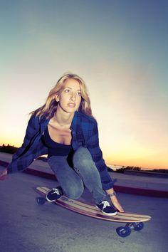 Arbor longboarding girl