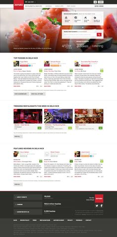 www.zomato.com Restaurant Week, Best Sites, Catering, Web Design, Site Design