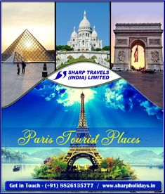 Paris Holiday Packages - Book your Paris tour packages with Sharp Holidays at the best price. Honeymoon Packages, Vacation Packages, Europe Tourism, Holiday Packages, Most Romantic Places, Dream Vacations, Tours, Paris, Holidays
