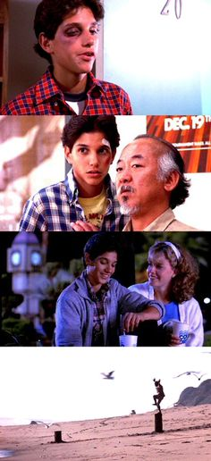 Karate kid. I crushed so hard  on Ralph Macchio when I was a kid, it wasn't even funny.