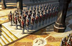 Assemble the Legion MtG Art from Gatecrash Set by Eric Deschamps Dark Fantasy, My Fantasy World, Fantasy Armor, Medieval Fantasy, Armor Concept, Concept Art, Mtg Art, Forgotten Realms, Fantasy Inspiration
