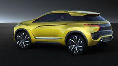 Prévu pour 2018, le SUV Mitsubishi mesure 4,28 m de long. Sa propulsion intégrale est assurée par deux moteurs de 70 kW, alimentés par une batterie, rechargeable sans fil, de 45 kWh, offrant 400 kilomètres d'autonomie.